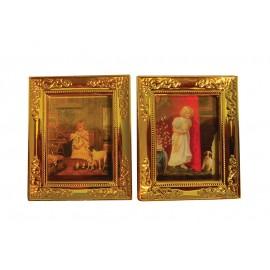 Dva zlaté nástěnné obrazy