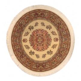 Kruhový béžový koberec