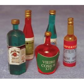 Lahve s alkoholem mix, 5 ks