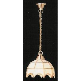 Bílá stropní lampa Tifany