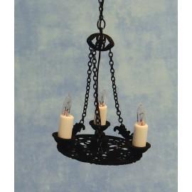 Trojramenný svíčkový lustr Tudor