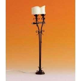 Stojací kovová lampa svíčky