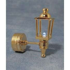 Venkovní zlatá nástěnná LED lampa, bateriová