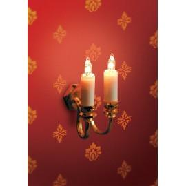 Nástěnné osvětlení 2 svíčky