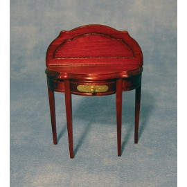 Půlkruhový stolek, mahagon