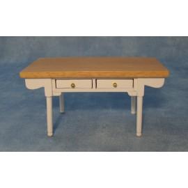 Bílo-borovicový jídelní stůl