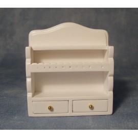 Bílá kuchyňská sříňka na zeď