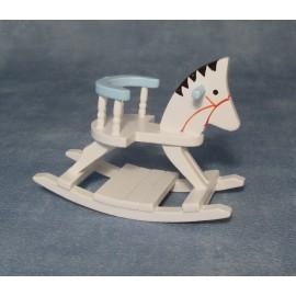 Modro-bílý houpací koník