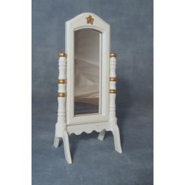 Bílé překlápěcí zrcadlo