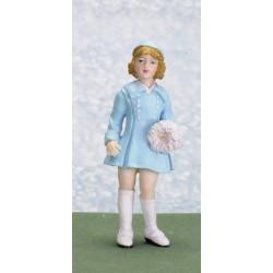 Dívka v modrých šatech