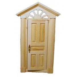 Dřevěné vstupní dveře, bez povrchové úpravy