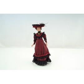 Victorian Lady červené šaty