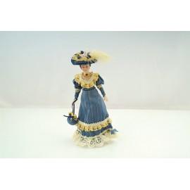 Victorian Lady modré šaty