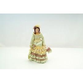 Victorian Lady zelené šaty