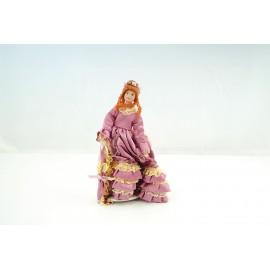 Victorian Lady růžové šaty
