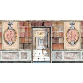 3D tapeta knihovny